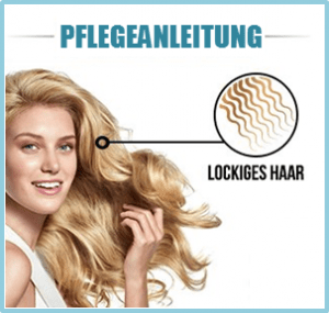 Lockiges Haar pflegen